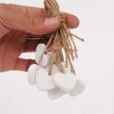Cuori in legno bianchi medium