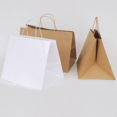 Borse ASPORTO GASTRONOMIA, GELATERIA, PASTICCERIA Linea BAGS for CAKES in Carta Fondo Largo Maniglia Ritorta
