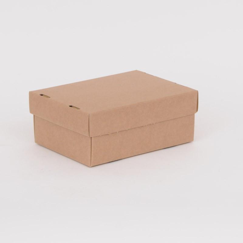 Scatole con coperchio avana liscio 20