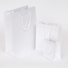Borsine WEDDING BAG Deluxe in Carta Plastificata Opaca Bianca