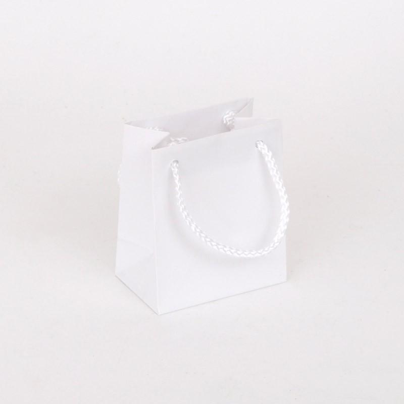 Borsine Deluxe in Carta Plastificata Opaca Bianca