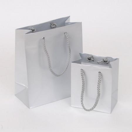 Borsine WEDDING BAG Deluxe in Carta Plastificata Opaca Argento