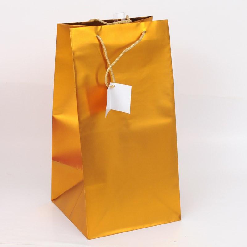 Borsa natalizia porta pandoro oro