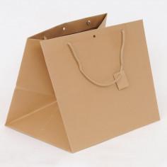Borse Lusso in Carta Fondo Largo con Manici Cotone e tag