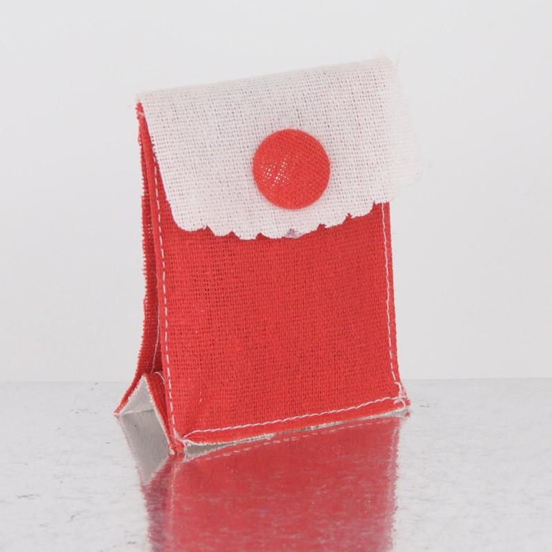 Buste Stoffa Bicolor con bottone rosse