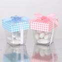 Bicchierino trasparente con coperchio cartoncino porta confetti