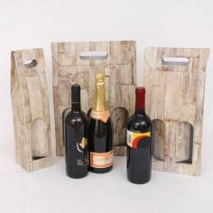 Scatole bottiglie vino serie Wood