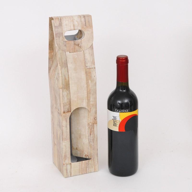Scatole una bottiglia vino