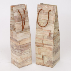 Shopping Box una bottiglia Wood