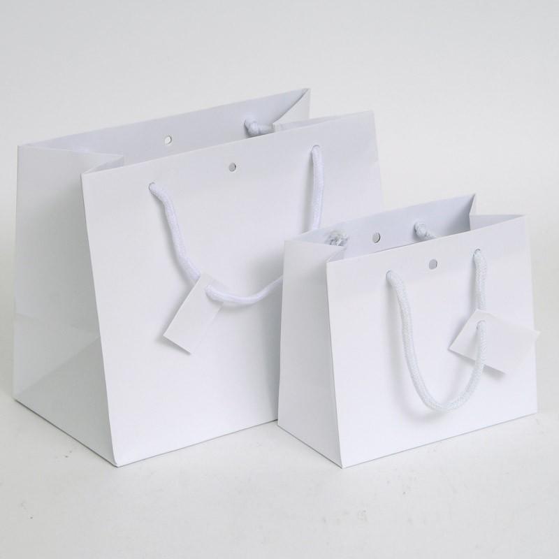 100 WEDDING BAGS BIANCHE personalizzate 18+8X24 OMAGGI