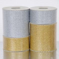 Nastro rete Nido d'Api Metalizzato maglia Fine