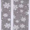 Garza fiocchi di neve grigia