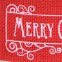 Nastro rosso in cotone Merry Christmas