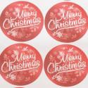 Etichette Natale assortite base metallizzata
