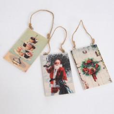 Targhe in legno appendibili Stampa Vintage