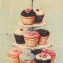Stampa Vintage muffin