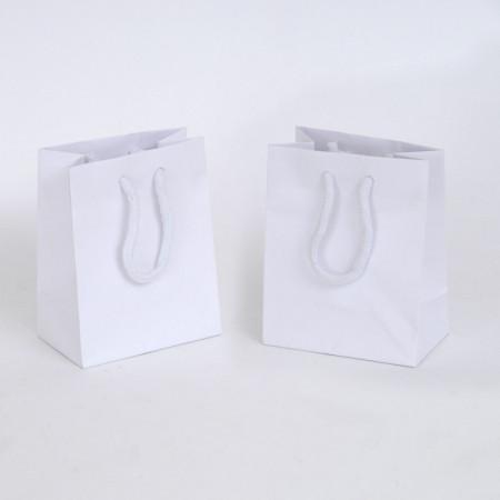 Borsina WEDDING BAG Deluxe in Carta Plastificata Opaca Bianca C. cotone