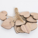 Cuori in legno naturale 5 cm