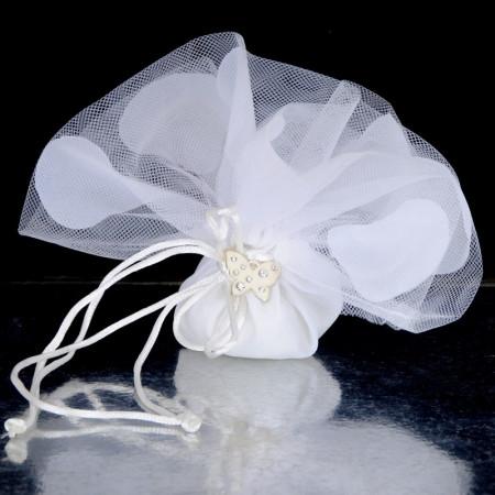 Veli Confetti con lacci e farfallina zirconi 12 pezzi