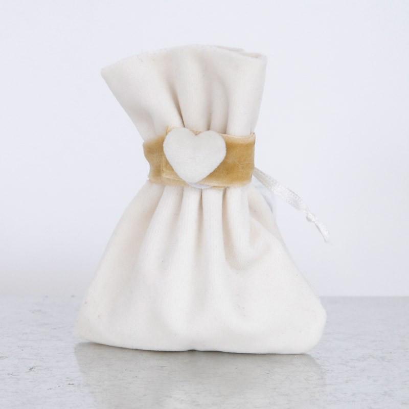 Sacchetti Soft Tessuto Morbido con fascia cuore