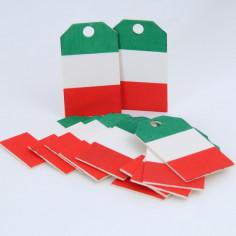 Etichetta in Legno bandiera Italia