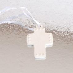 Croce Ceramica con raso