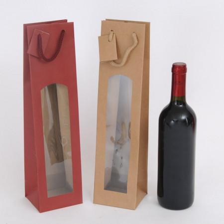 Shopper Portabottiglie Vino con Finestra