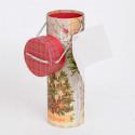 Tubo Cartone Bottiglia Natale