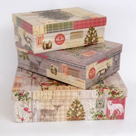 Set Tre Scatole Natale Vintage