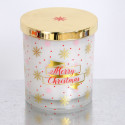 Candele profumate Natale cristalli neve