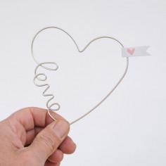 Cuore love in filo ferro