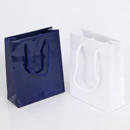 Shopper Luxory Plastificato Lucido con Maniglie in Cordino di Cotone