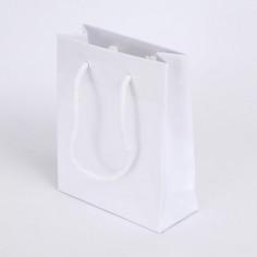 Shopper Luxory Plastificato  bianco