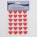 Stickers Curicini felpati rossi Adesivi