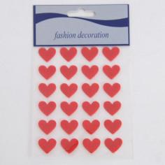 Stickers Cuoricini felpati rossi Adesivi
