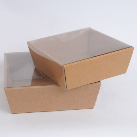 Vassoio Conico in Cartone con coperchio trasparente