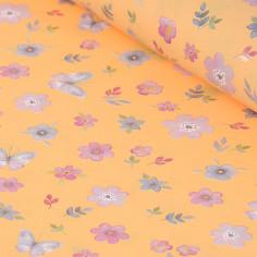 Rotoli in carta Perlati Stampa Fiori arancio