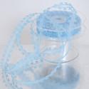 Nastri regalo organza doppi cuori azzurro