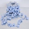 Nastri pon-pon vellutati colori azzurro
