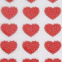 Stickers Cuoricini Glitterati rossi Adesivi