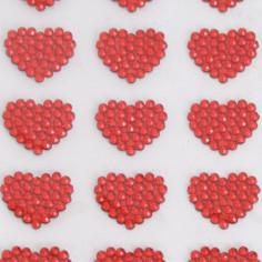 Stickers Cuoricini Brillantini rossi Adesivi