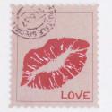 Stickers Francobollo Love Rosso