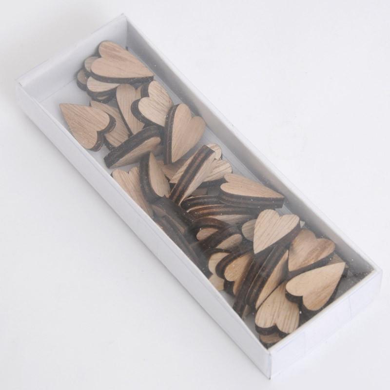 Cuori in legno piccoli naturali