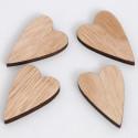Cuori in legno grandi naturali