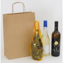Sacchetto Carta Rustico Avana 2-3 Bottiglie
