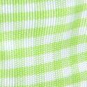 Nastri Raso Quadretti Vichy verde