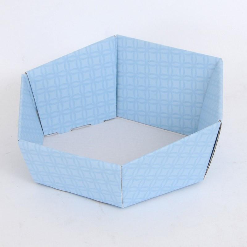 Vassoi Esagonali azzurro