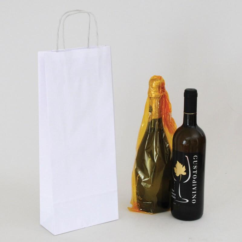 Borsa Carta Sealing Avana e Carta Kraft bianca per bottiglie
