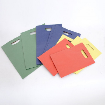 Sacchetti Carta Maniglia fagiolo Colorata in Pasta Conf.50pz