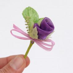 Fiori Pick Bocciolo Rosa Viola in Confezione da 12pz